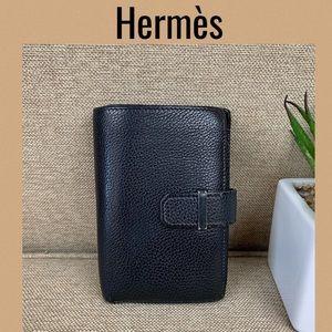 Hermès BiFold Black Leather Wallet